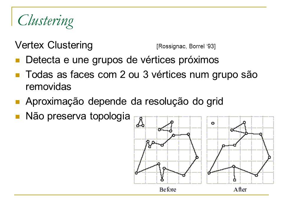 Clustering Vertex Clustering [Rossignac, Borrel '93]